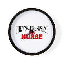 """The World's Greatest ER Nurse"" Wall Clock"