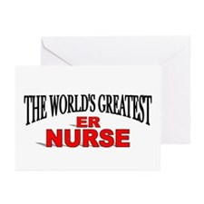 """""""The World's Greatest ER Nurse"""" Greeting Cards (Pa"""