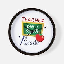 7th Grade Teacher Wall Clock