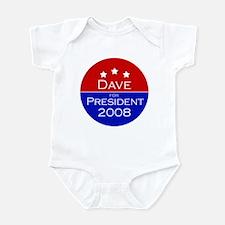 Dave for President Infant Bodysuit