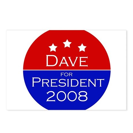 Dave for President Postcards (Package of 8)