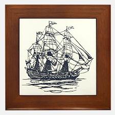 Nautical Ship Framed Tile