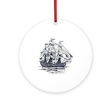 Nautical Ship Ornament (Round)