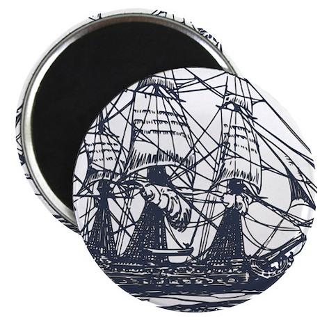 "Nautical Ship 2.25"" Magnet (10 pack)"