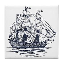 Nautical Ship Tile Coaster
