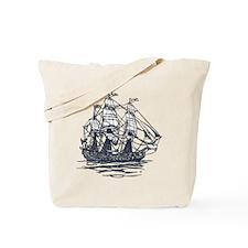 Nautical Ship Tote Bag