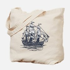 Nautical Ship Tote Bag