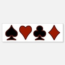 Playing Card Suits Bumper Bumper Sticker