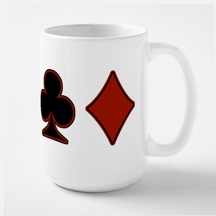 Playing Card Suits Large Mug