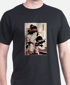 Ukiyoe Geisha Night Out T-Shirt