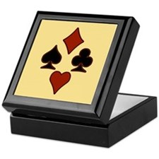 Playing Card Suits Keepsake Box