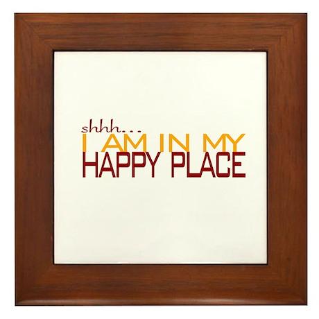 Happy Place Framed Tile