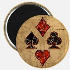 Cracked Playing Card Suits Magnet