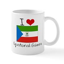 I HEART EQUATORIAL GUINEA FLAG Mug