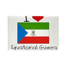 I HEART EQUATORIAL GUINEA FLAG Rectangle Magnet