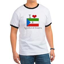 I HEART EQUATORIAL GUINEA FLAG T-Shirt