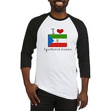 I HEART EQUATORIAL GUINEA FLAG Baseball Jersey