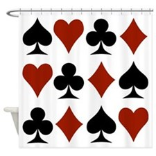 Playing Card Symbols Shower Curtain