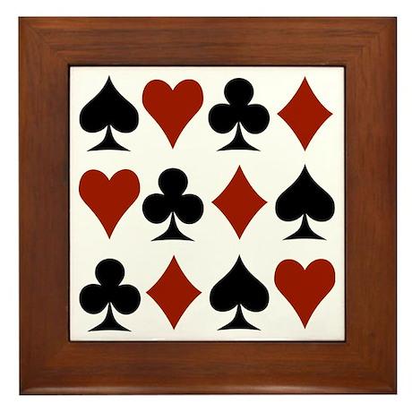 Playing Card Symbols Framed Tile