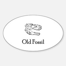 Old Fossil Oval Decal