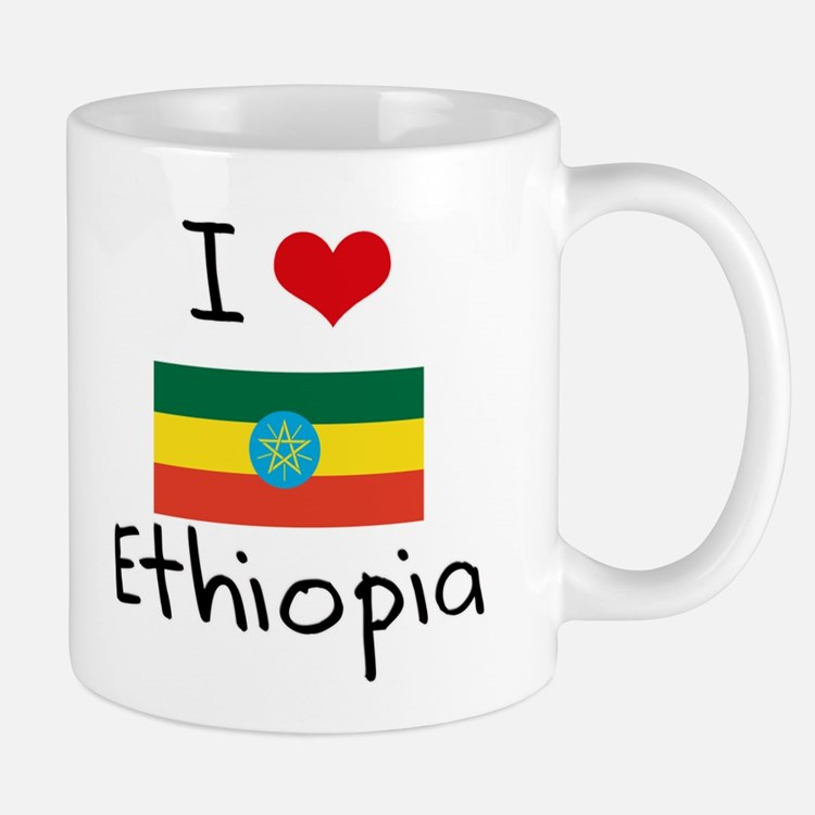 I HEART ETHIOPIA FLAG Mug
