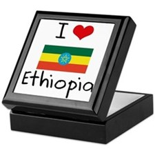 I HEART ETHIOPIA FLAG Keepsake Box