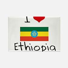 I HEART ETHIOPIA FLAG Rectangle Magnet