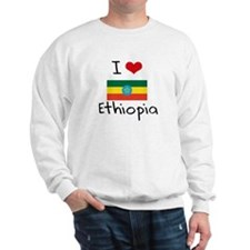 I HEART ETHIOPIA FLAG Sweatshirt