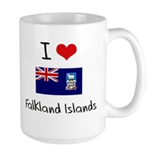 I HEART FALKLAND ISLANDS FLAG Mug