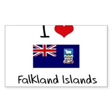 I HEART FALKLAND ISLANDS FLAG Decal
