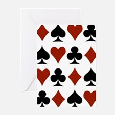 Playing Card Symbols Greeting Cards (Pk of 20)