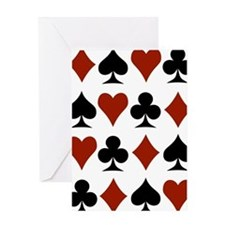 Playing Card Symbols Greeting Card