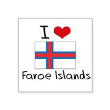 I HEART FAROE ISLANDS FLAG Sticker