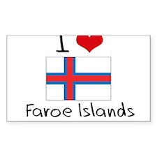 I HEART FAROE ISLANDS FLAG Decal