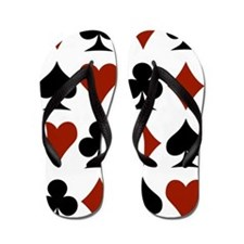 Playing Card Symbols Flip Flops