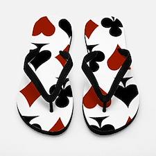 Playing Card Symbols Flip Flops
