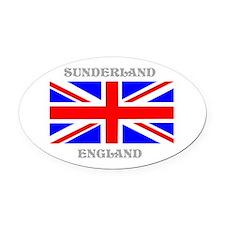 Sunderland England Oval Car Magnet