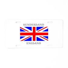 Sunderland England Aluminum License Plate