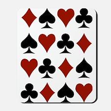 Playing Card Symbols Mousepad