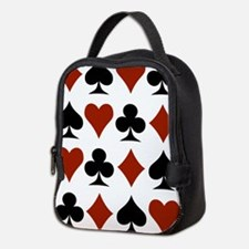 Playing Card Symbols Neoprene Lunch Bag