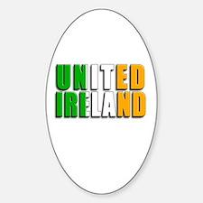 United Ireland Oval Decal