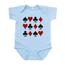 Playing Card Symbols Infant Bodysuit