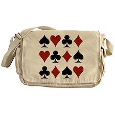 Playing Card Symbols Messenger Bag