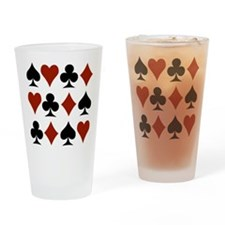 Playing Card Symbols Drinking Glass