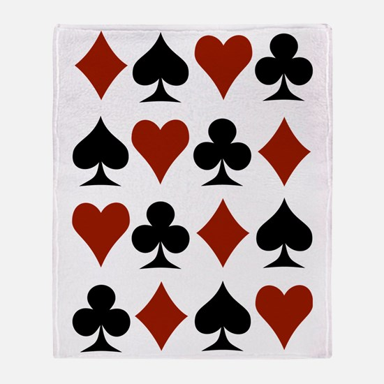 Playing Card Symbols Throw Blanket
