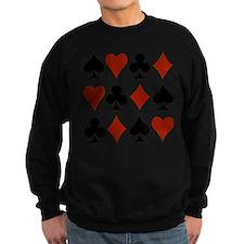 Playing Card Symbols Sweatshirt