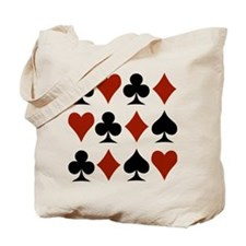 Playing Card Symbols Tote Bag