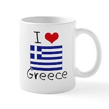 I HEART GREECE FLAG Mug