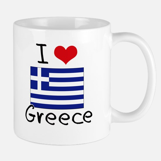 I HEART GREECE FLAG Mug