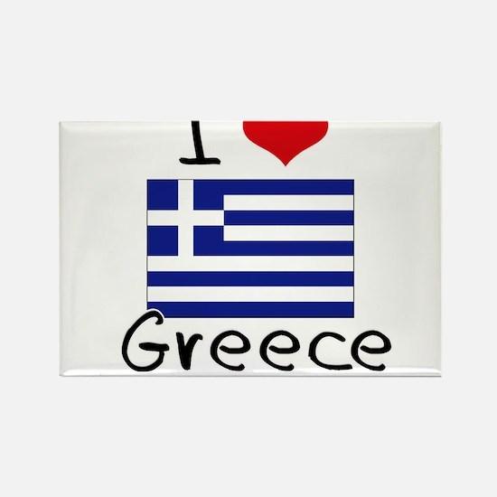 I HEART GREECE FLAG Rectangle Magnet